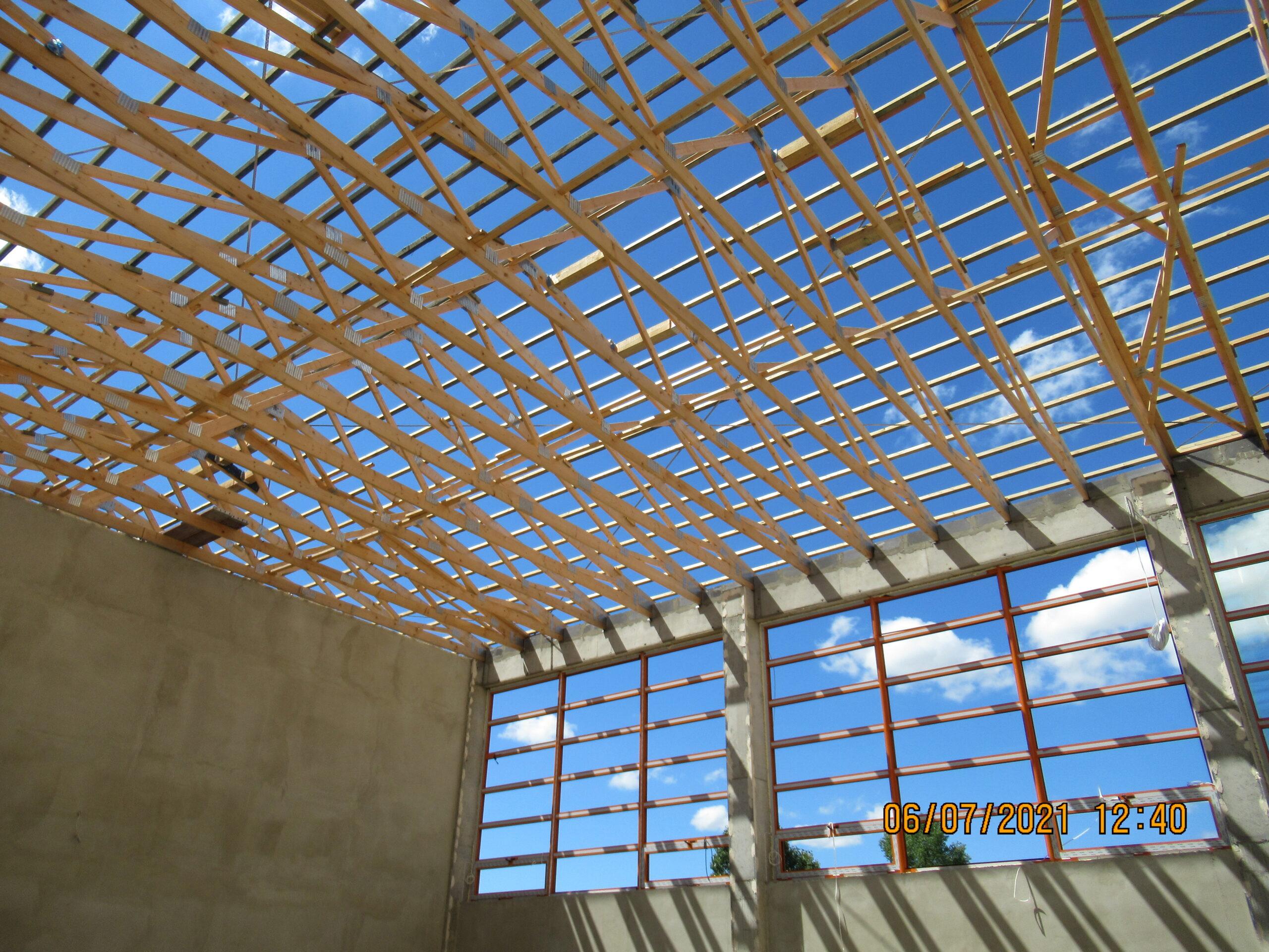 Budowa sali gimnastycznej w miejscowości Radostów Średni